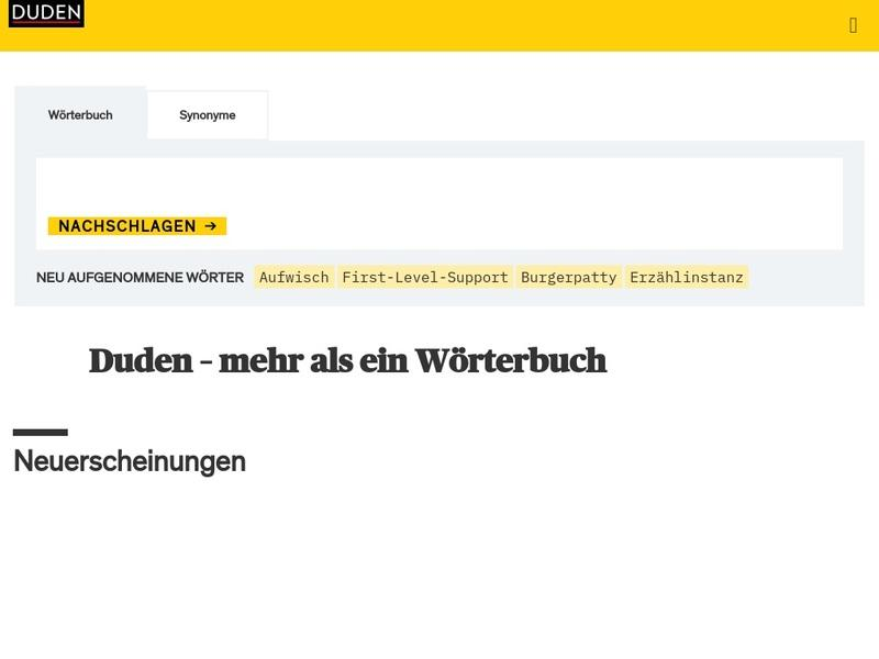 Screenshot von https://www.duden.de/